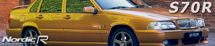 Volvo S70R - i dag en sällsynt modell på grund av det mycket låga tillverkningsantalet. Här i lanseringsfärgen Saffran.