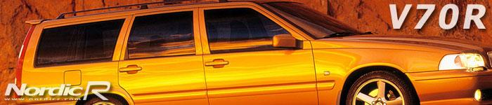 Volvo V70R. Här i lanseringsfärgen Saffran. Modellen fanns både som framhjulsdriven (V70R FWD) och som fyrhjulsdriven (V70R AWD).