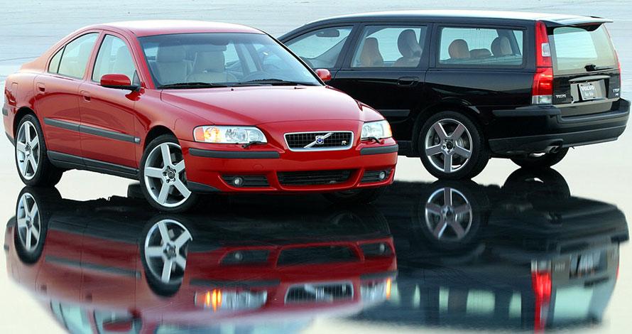 Bild på en Volvo S60R AWD och en Volvo V70R AWD