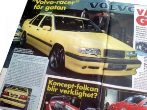 Tidningen Bilsport nr 7/94 med Volvo 850 Turbo Plus 5 (senare T-5R) från premiärvisningen i Geneve 1994. Bilen på bilden är PDY444 som i dag ägs av entusiasten Ulf Thorén.