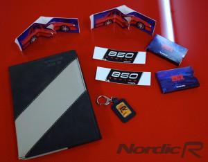 Volvo 850R Nyckelring, servicebokmapp, klistermärken