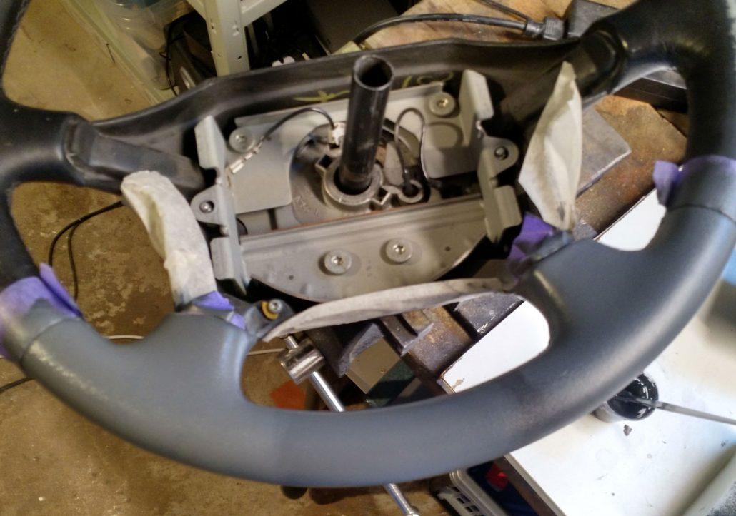 Renovering av ratt till Volvo 850R